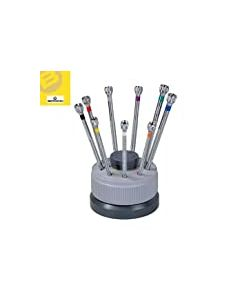 Bergeon 5970 Top Quality 9 Screwdriver-Non Slip Rotating Stand