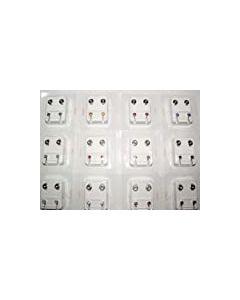 1stselection Set of 24 Ear Studs (12 Pairs) in Medical Grade Steel - 12 Different Colours