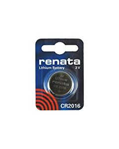 Renata 2 x CR2016 Lithium Coin Cells Batteries 3v Blister Packed Wrist Watch battery - Swiss Made - Button Cell Long Life Batteries (CR2016)