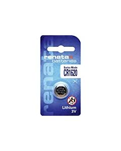 Renata CR1620 Lithium coin cell, 68mAh