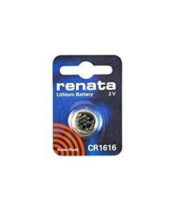 Renata 2 x CR1616 Lithium Coin Cells Batteries 3v Blister Packed Wrist Watch battery - Swiss Made - Button Cell Long Life Batteries (CR1616)